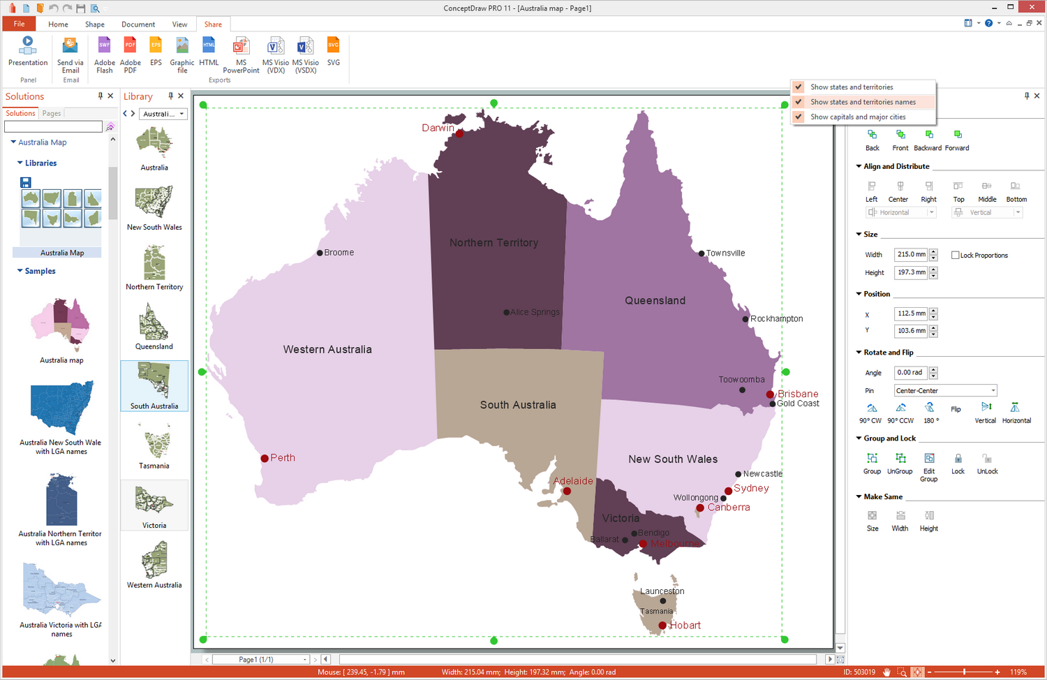 Australia Map Solution for Microsoft Windows