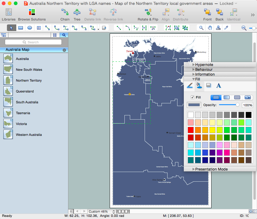 Australia Map Solution for Apple OS X