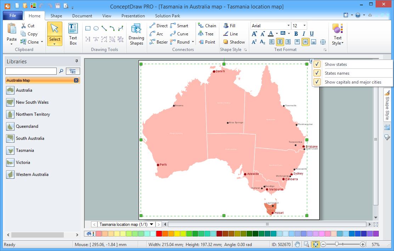 Australia Map Solution for Microsoft Windows