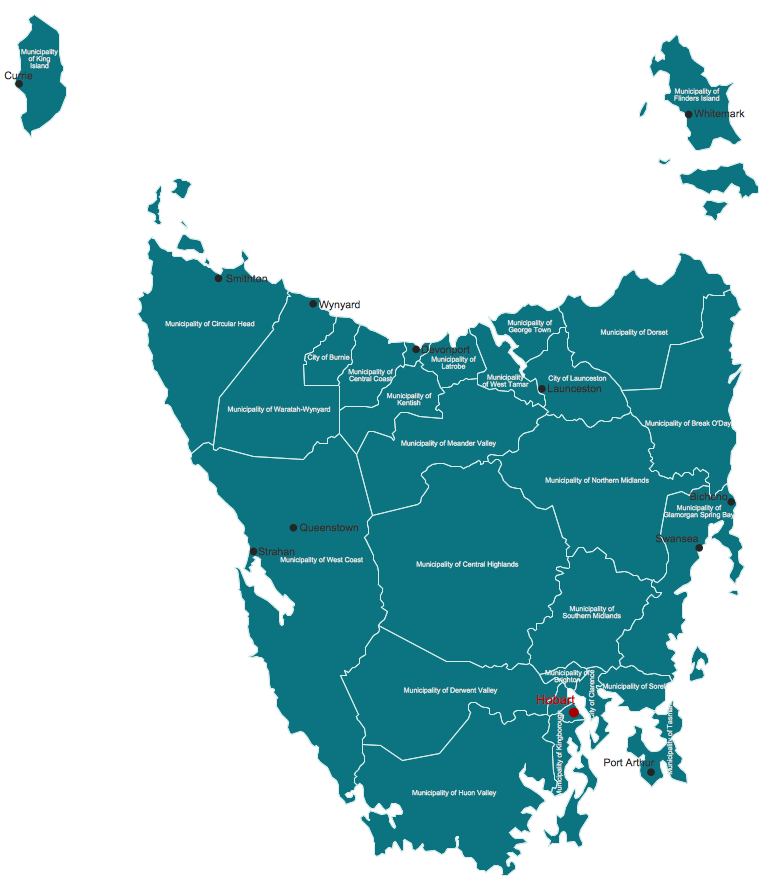 Australia Map Solution ConceptDrawcom - Map of western australia with cities