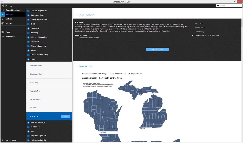 USA Maps Solution - Buy