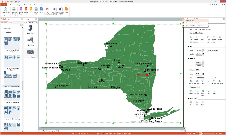 Usa Maps Solution Conceptdraw Com