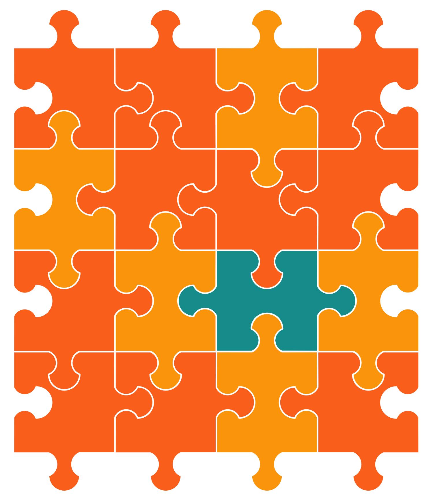 Puzzle Piece Diagram Alternating Sign Matrix