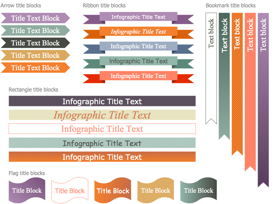 Marketing Infographics — Design Elements — Title Blocks