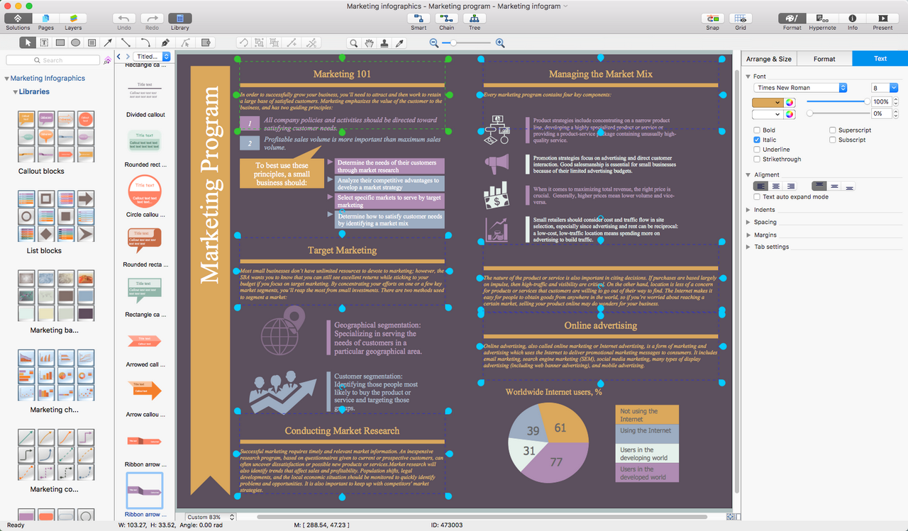 Marketing Infographics Solution  for macOS X