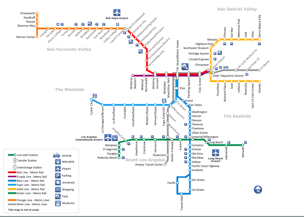 Metro Map Solution  ConceptDraw