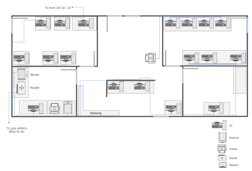 Network layout floor plans solution for Draw house plans on computer