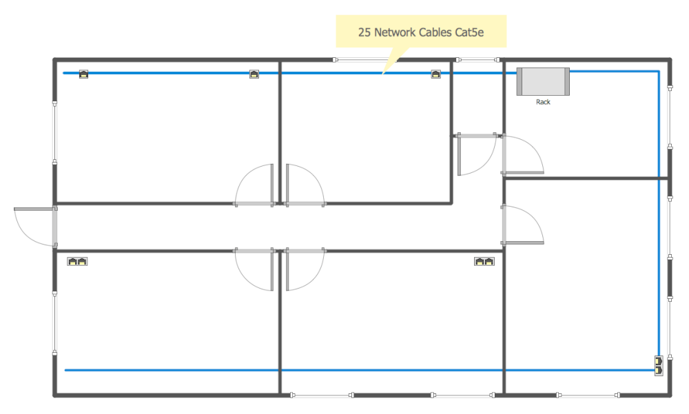 Computer Network Diagrams Solution Conceptdraw Jack Wiring Diagram Communication Plan Common