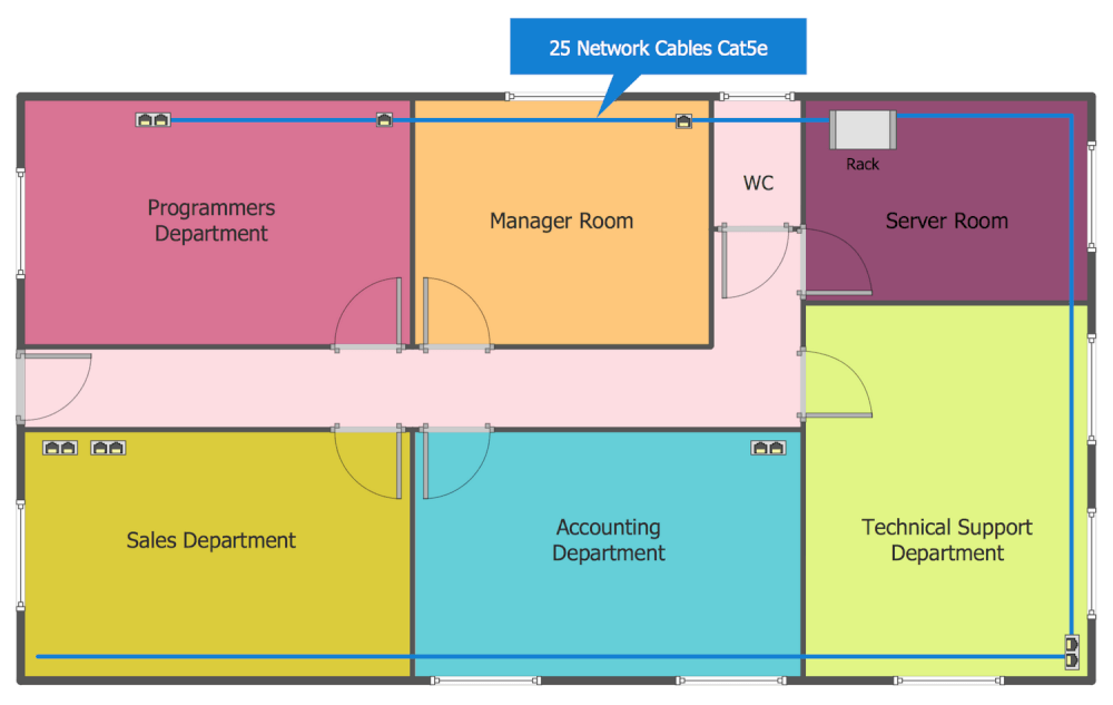 Two Family Floor Plans Network Layout Floor Plans Solution Conceptdraw Com