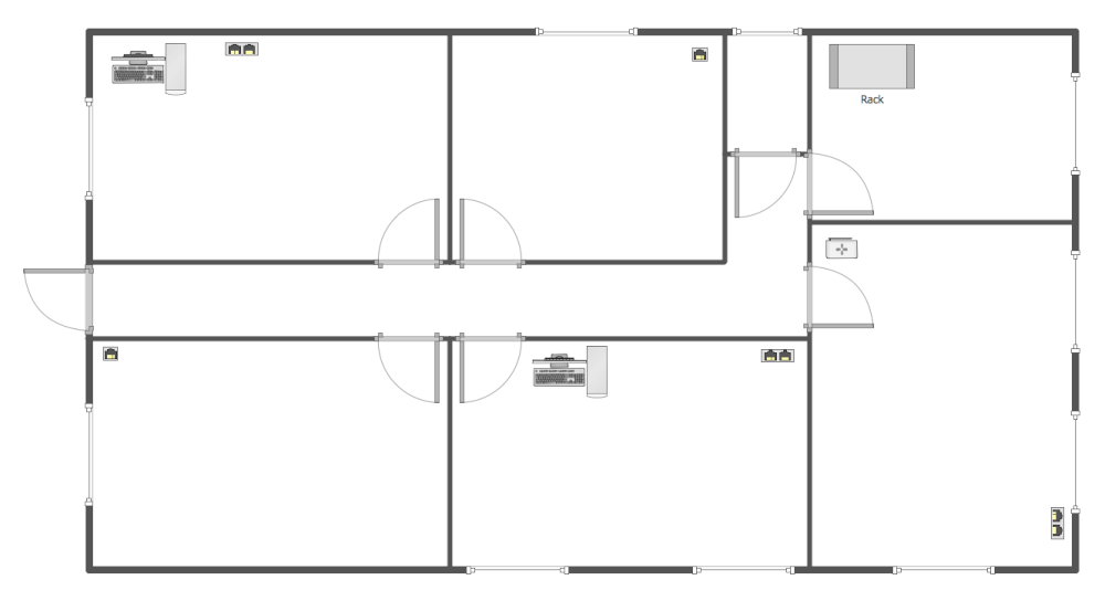 Network layout floor plans solution for Sample house floor plan drawings