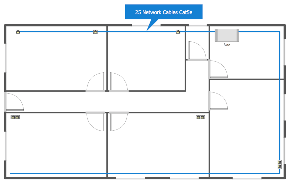 Network layout floor plans solution for Office plan design