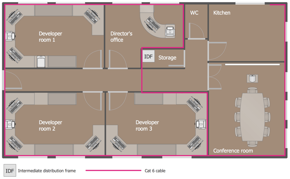 Network Layout Floor Plans Solution | ConceptDraw.com