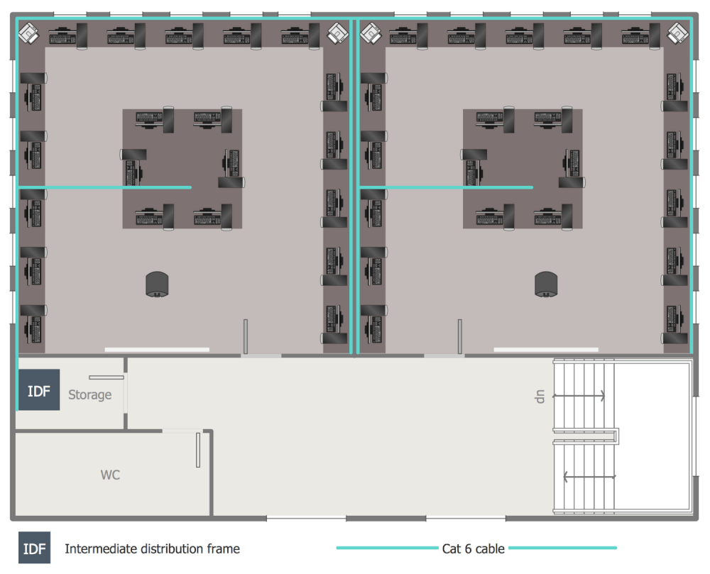 Second Floor Network Layout Plan