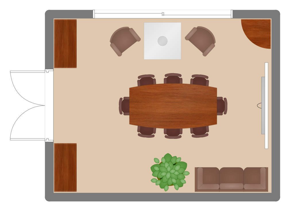 Office layout plans solution - Room layout planner free ...