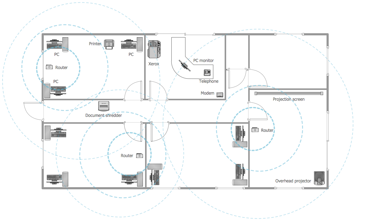 Beautiful Office Layout U2014 Wireless Network Plan