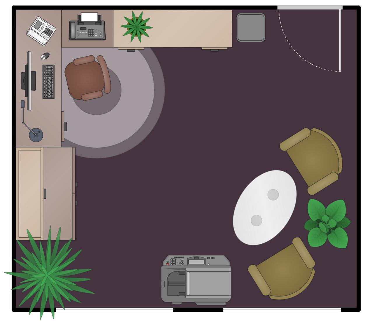 Stupendous Office Layout Plans Solution Conceptdraw Com Largest Home Design Picture Inspirations Pitcheantrous