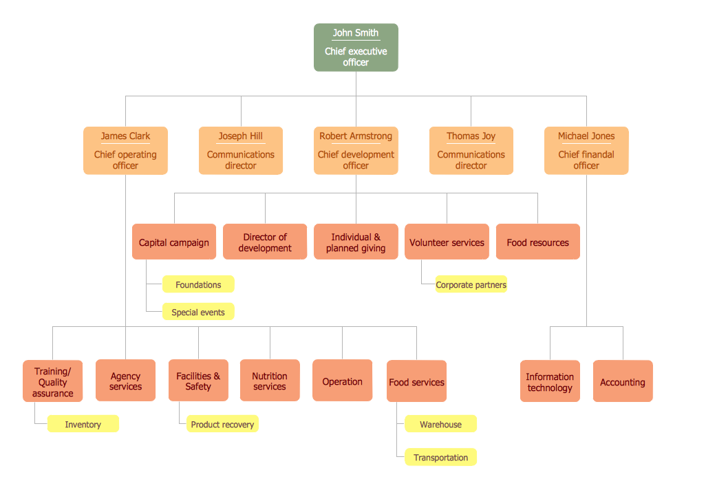 Company Organizational Chart Sample