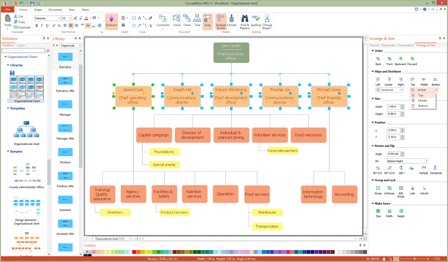 Organizational Charts Solution for Microsoft Windows