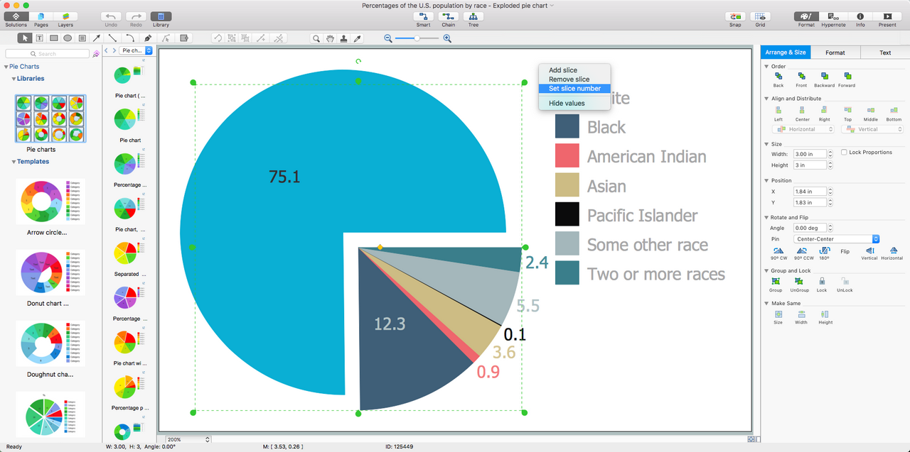 Pie Charts Solution for macOS X