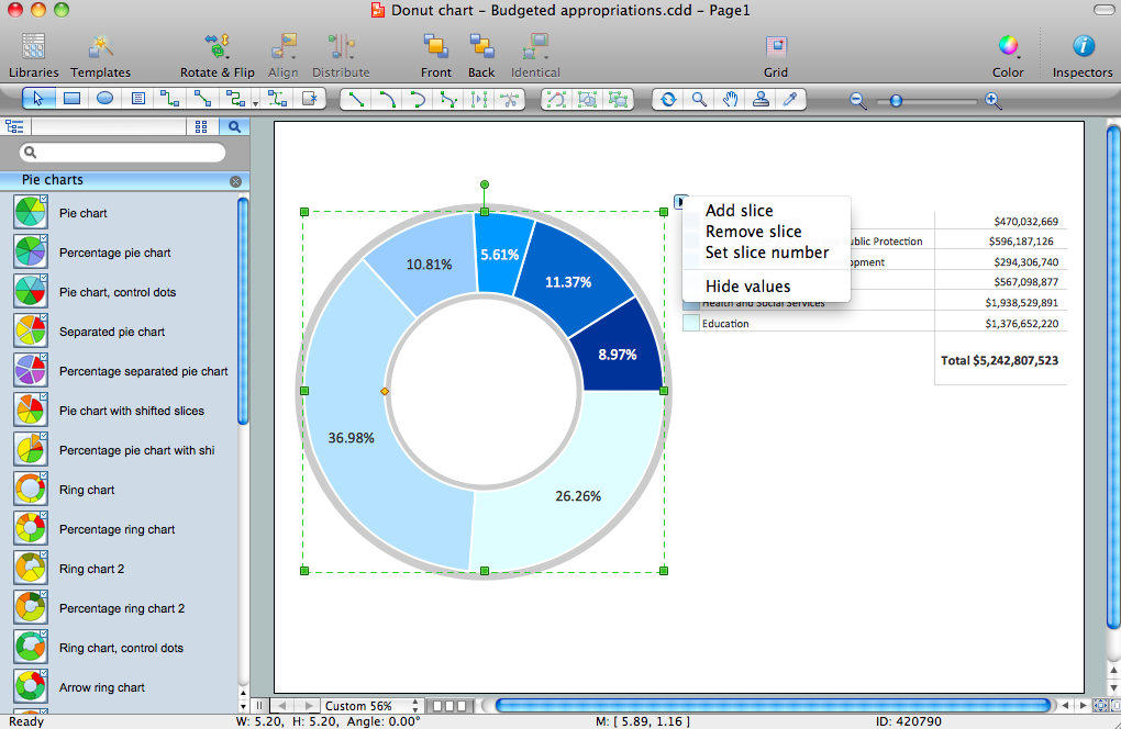 Basic Pie Charts Solution for Apple OS X