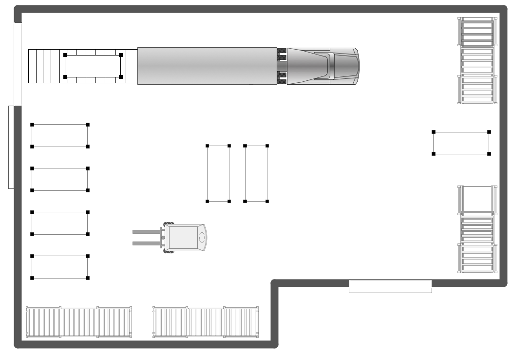 Plant layout plans solution for Draw layout warehouse