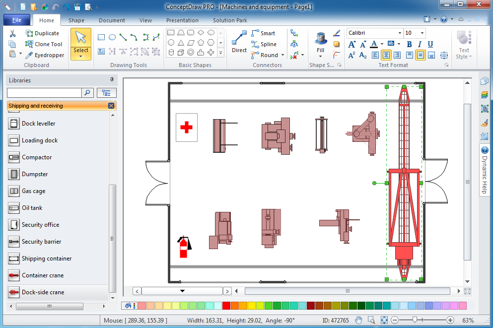 Plant layout plans solution for Building layout software