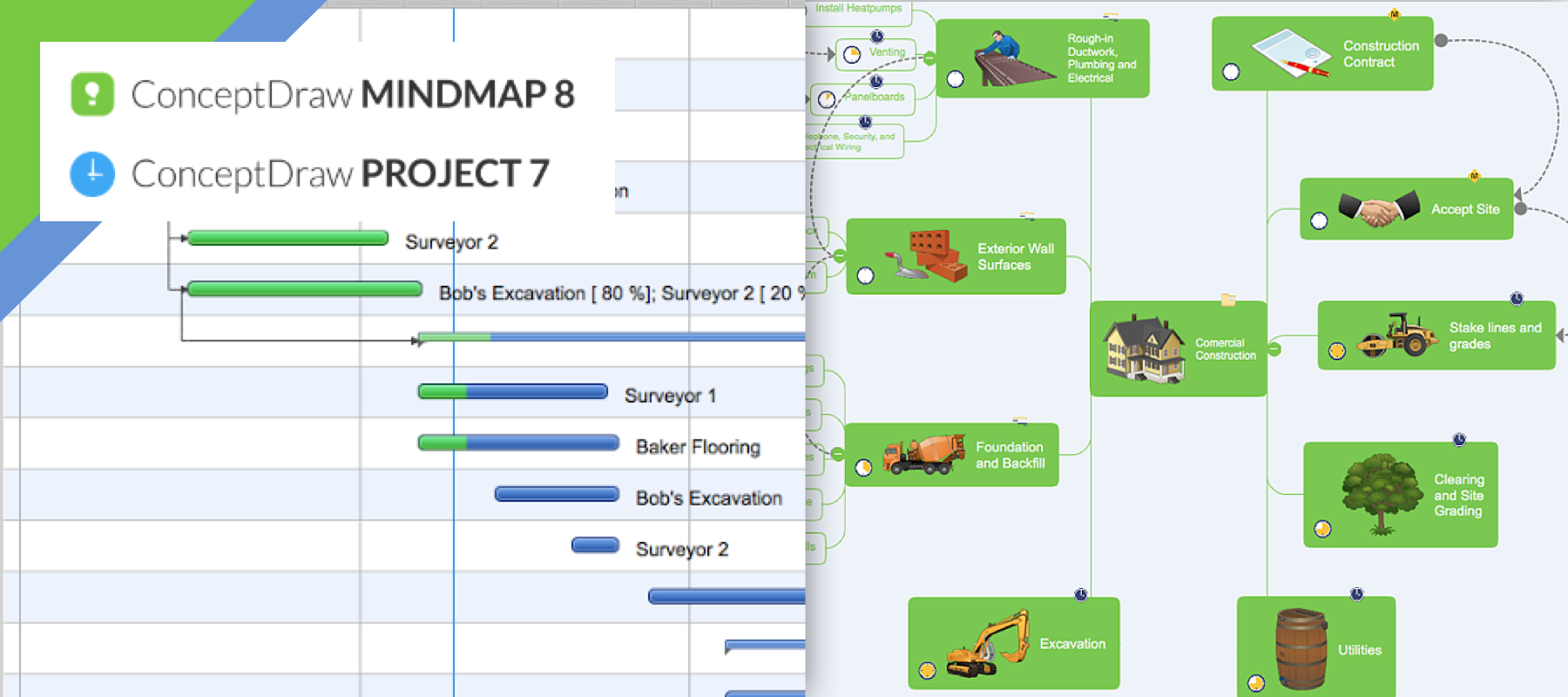 ConceptDraw Bundle: Project Map