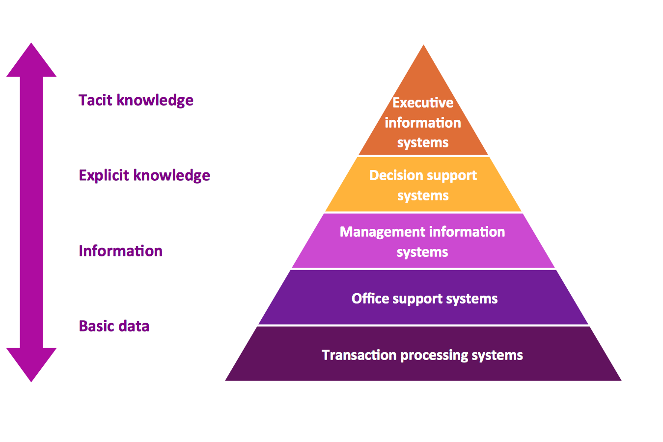 5 Level Pyramid Model of Information Systems Types