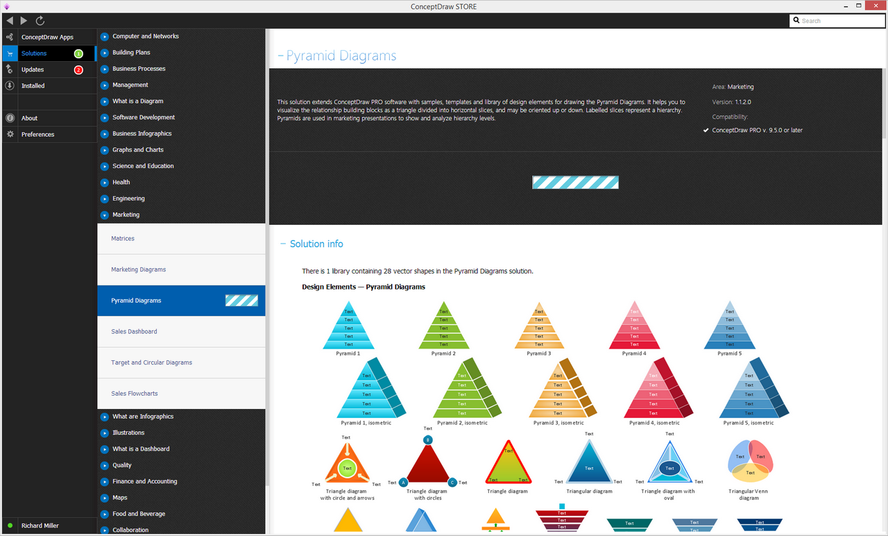 Pyramid Diagrams Solution - Install