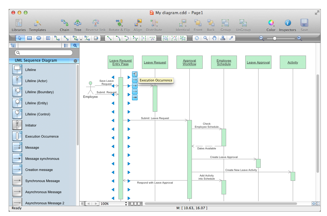 Example 1: UML Sequence Diagram — Checking Process