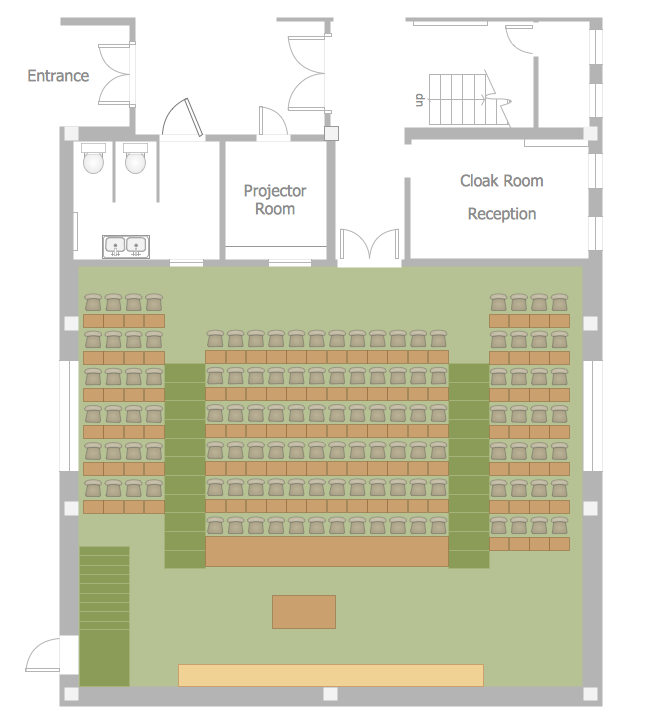 Classroom Seating Chart — Lecture Theatre Floor Plan
