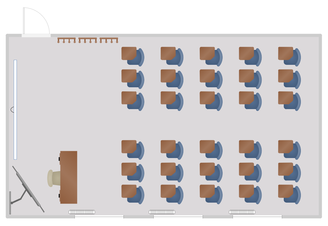 Computer Classroom Design Examples ~ School and training plans solution conceptdraw
