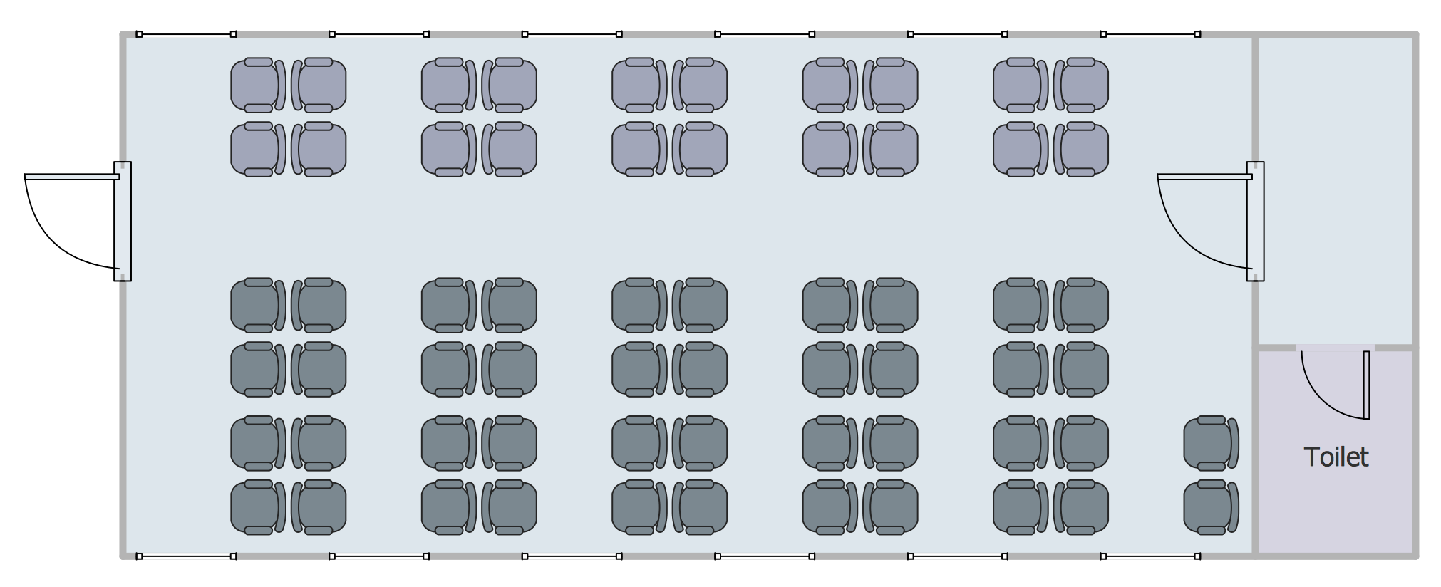 Seating Plans Solution | ConceptDraw com