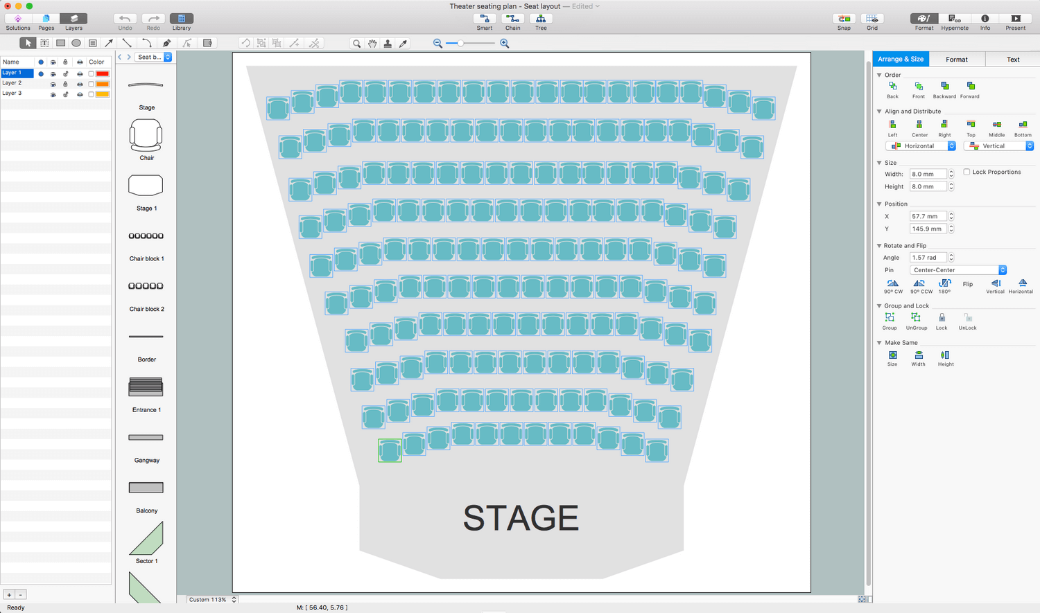 Seating Plans Solution for Apple macOS