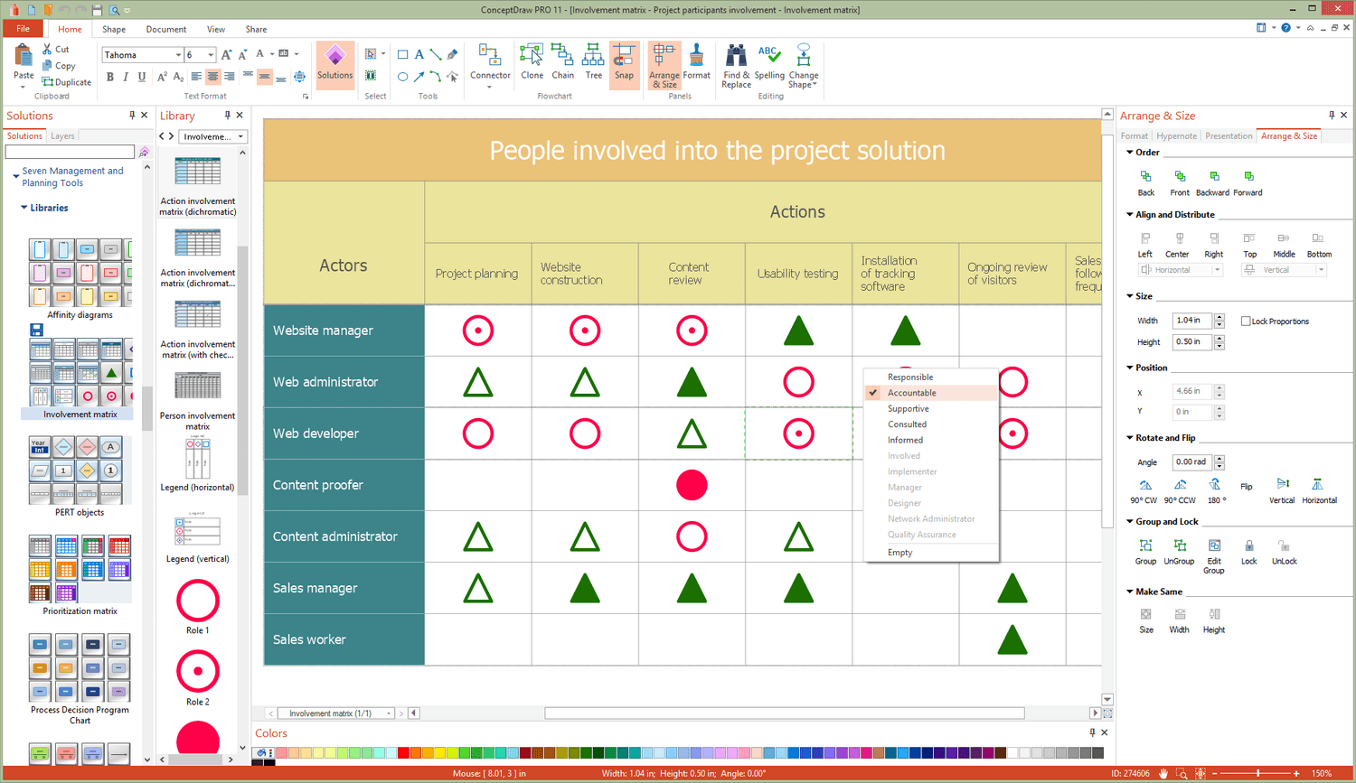 Seven Management and Planning Tools Solution for Microsoft Windows