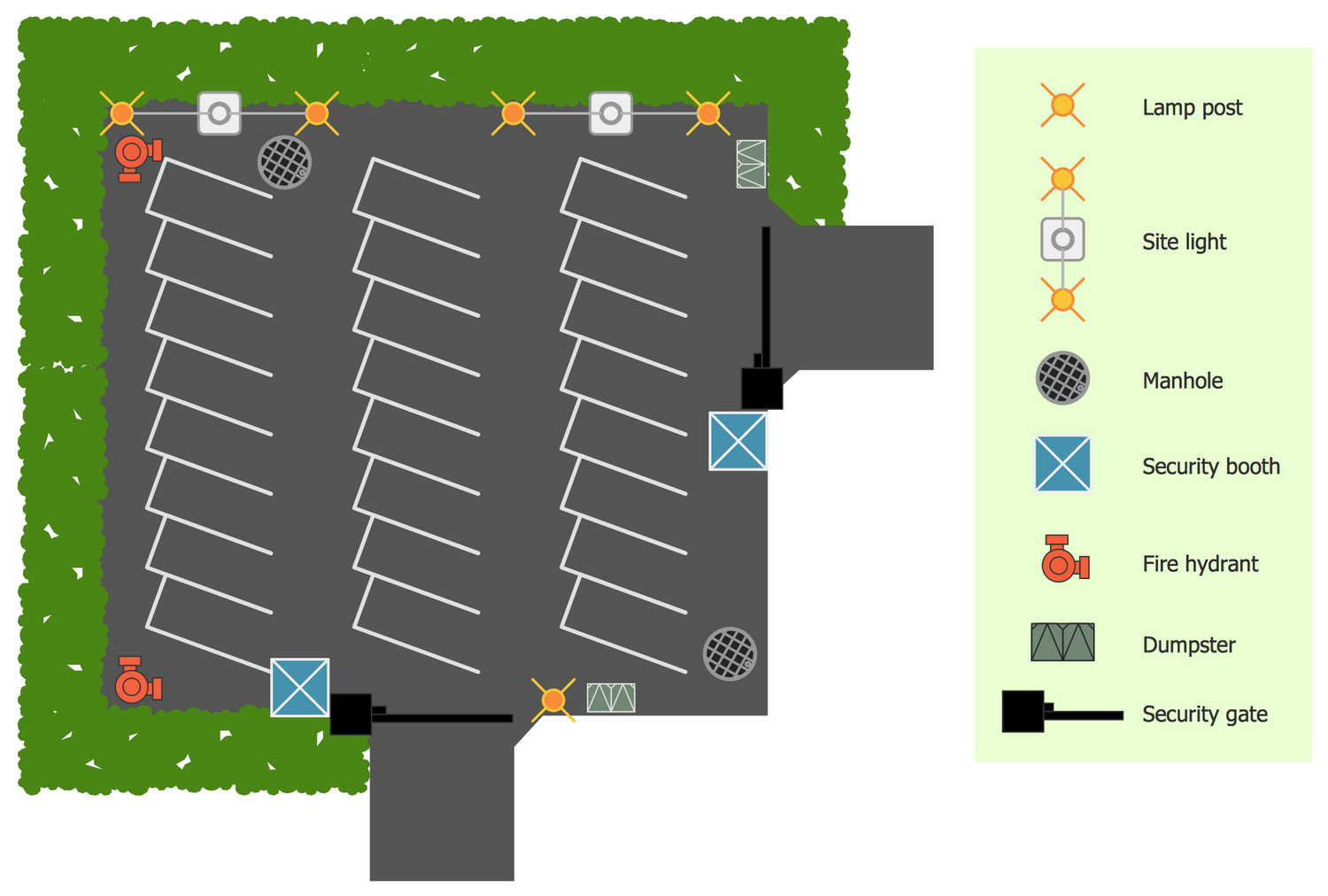 Site Plan - Secure Parking Sample