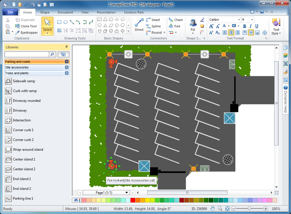Site plans solution for Site plan design software