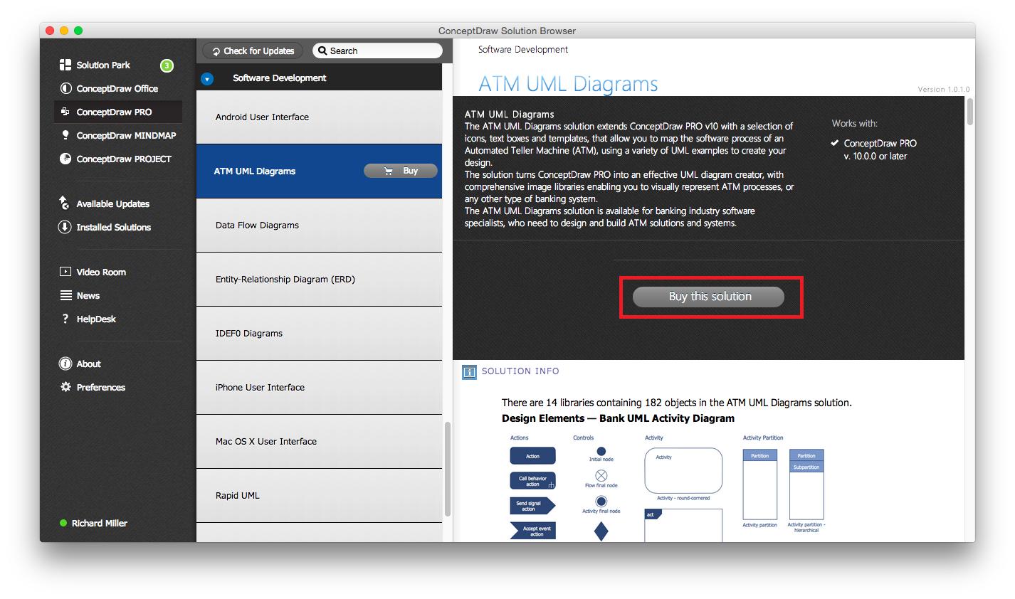 ATM UML Diagrams Solution — Buy
