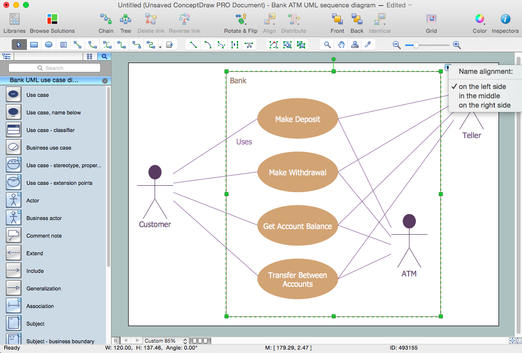 atm uml diagrams solution   conceptdraw comatm uml diagrams solution for apple os x