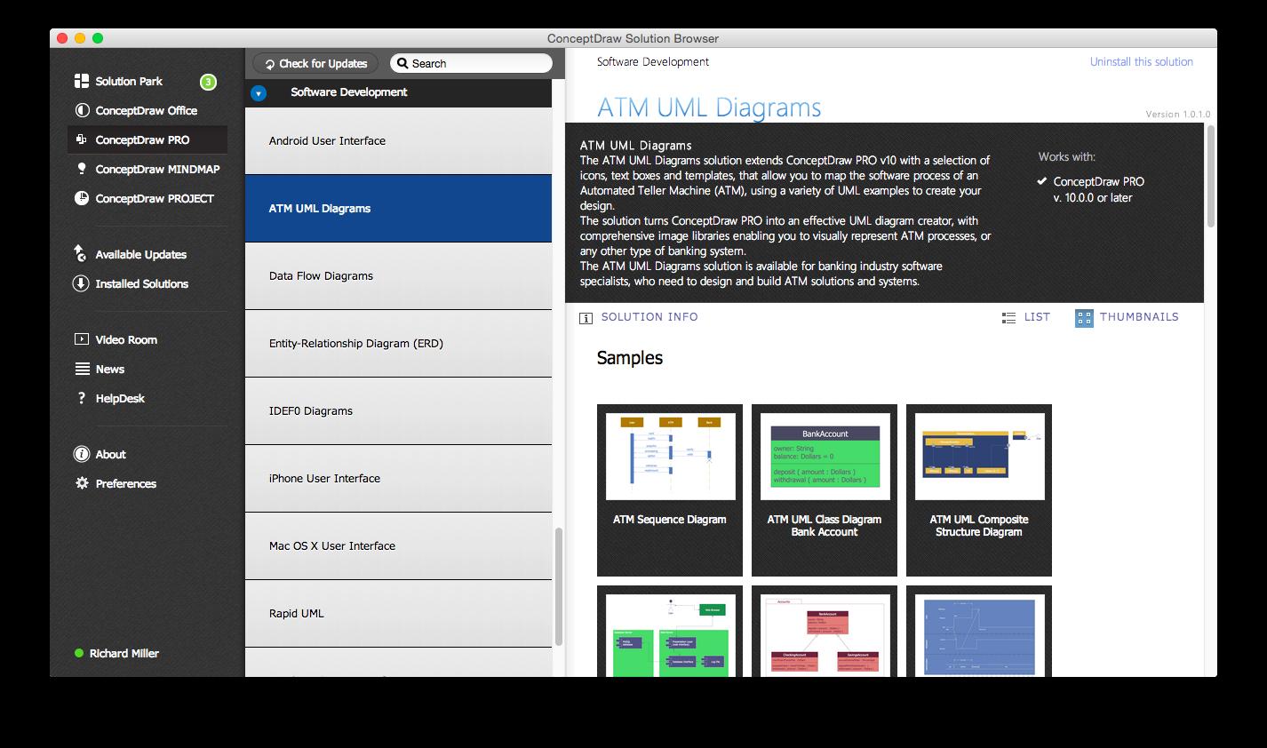 ATM UML Diagrams Solution — Start using