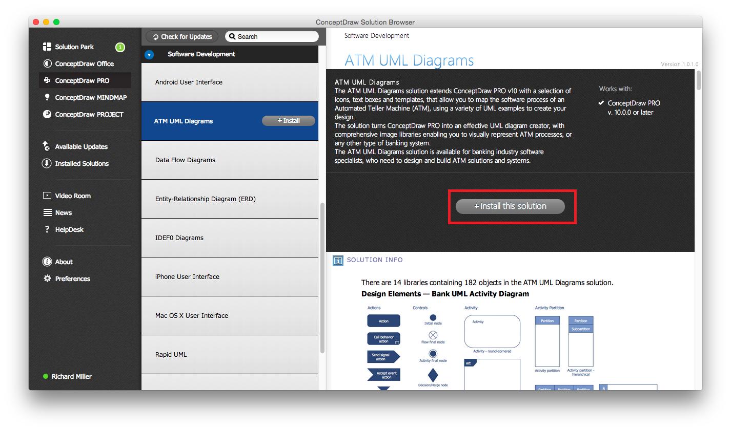 ATM UML Diagrams Solution — Install