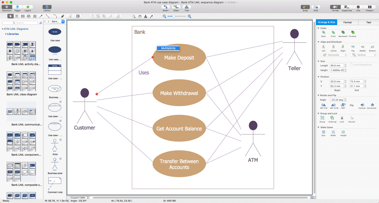 ATM UML Diagrams Solution for macOS