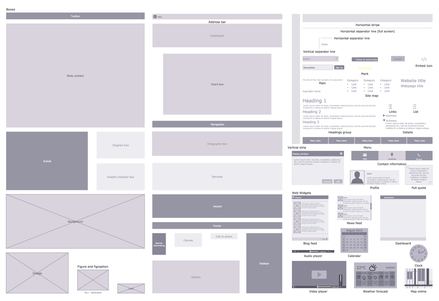 Website Wireframe Solution | ConceptDraw.com