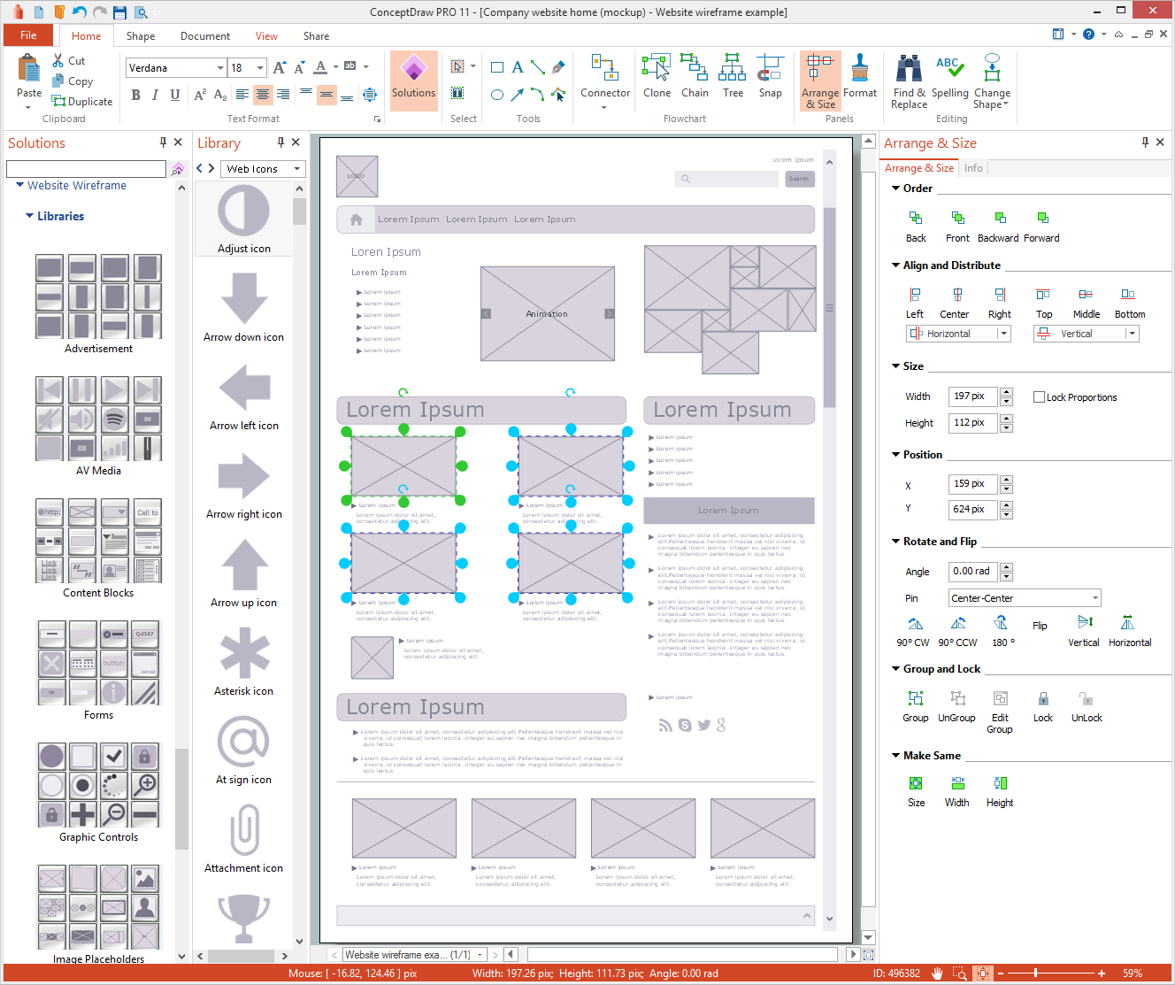 Website Wireframe Solution for Microsoft Windows