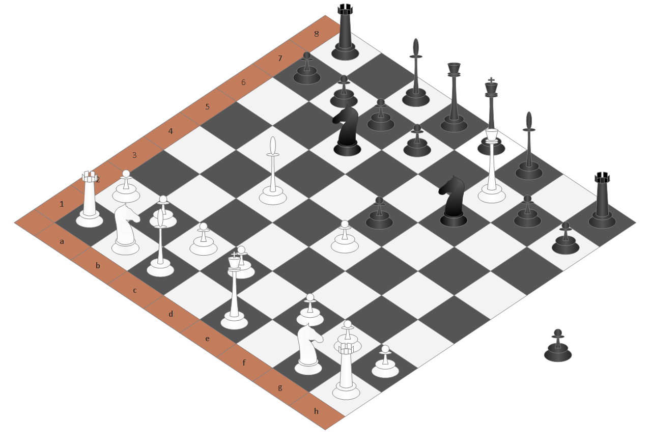 Sport-Chess-Scolars-Mate-3D Chess Moves Diagram on chess checkmate, chess tricks diagram, history diagram, chess creator, chess game class diagram, checkmate diagram, chess diagram software, chess rules, chess notation diagram, chess board numbered diagram, set up chess board diagram,