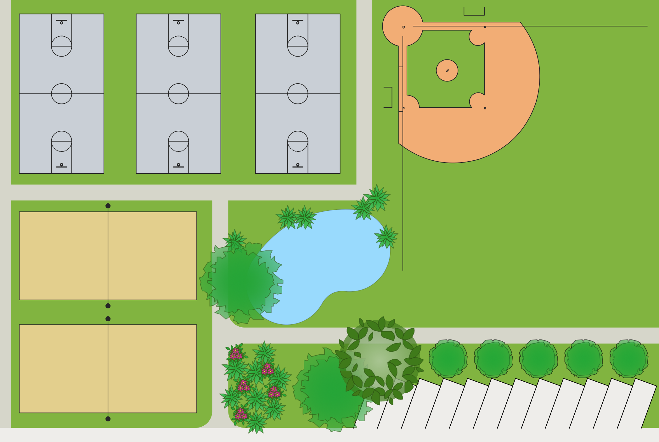 Sport field plans solution for Conceptual site model template