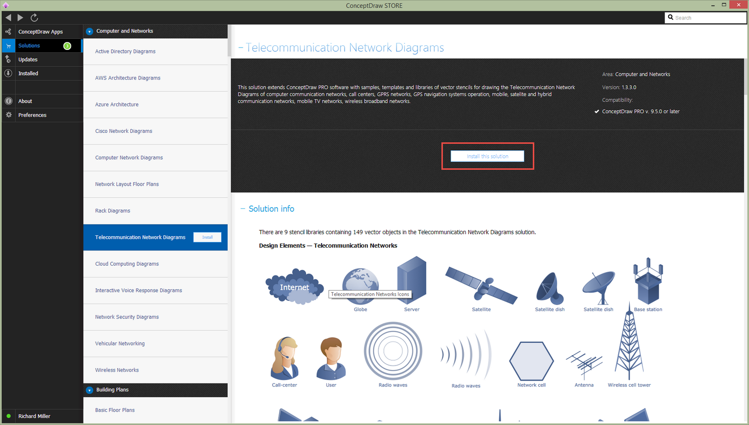 Telecommunication Network Diagrams Solution | ConceptDraw com