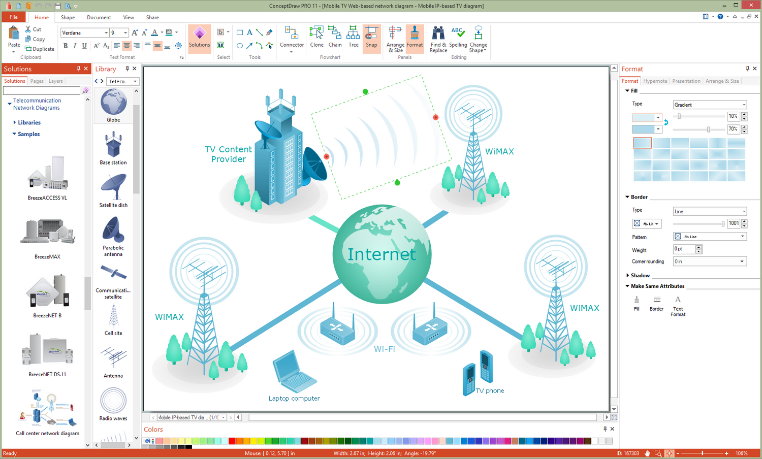 Telecommunication Network Diagrams Solution for Microsoft Windows