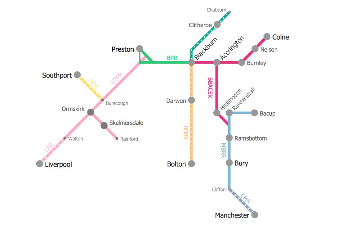 Metro Route Map