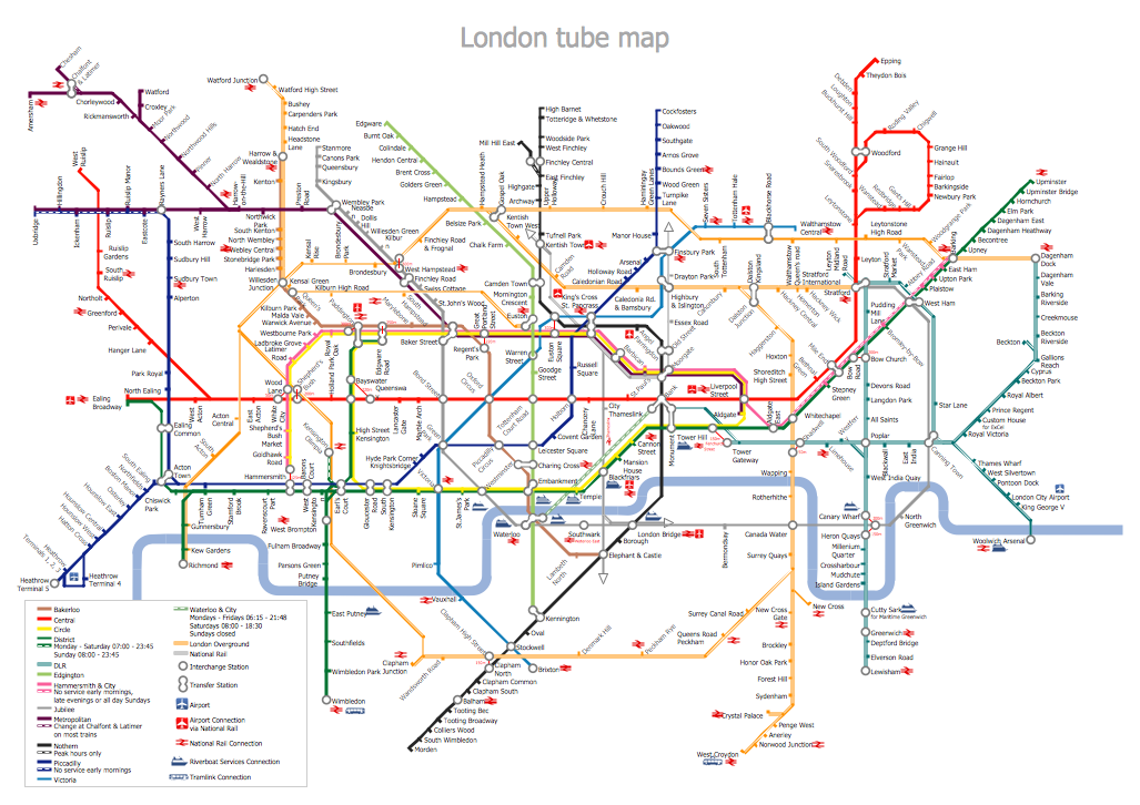 Custom Subway Map Creator.Metro Map Solution Conceptdraw Com